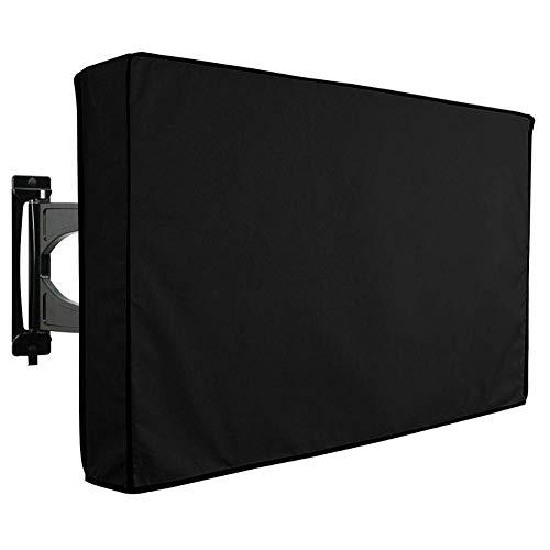 Cubierta de TV para Exteriores (Varios tamaños) 600D Impermeable Oxford ClothTV Protector, para LCD, LED, Plasma, Juegos de Prueba de Pantalla Plana, Bolsillo de Almacenamiento para Control Remoto in