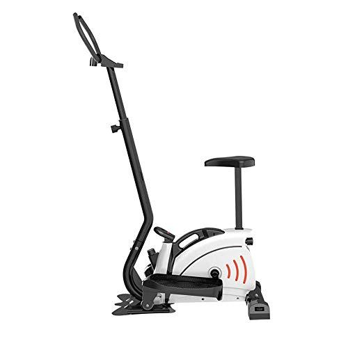 UIZSDIUZ Programable Dual Trainer Máquina Elíptica y la Bicicleta estática con Asiento y Pantalla LCD, Unidad Interno equilibrado Doble Rueda Puede moverse libremente