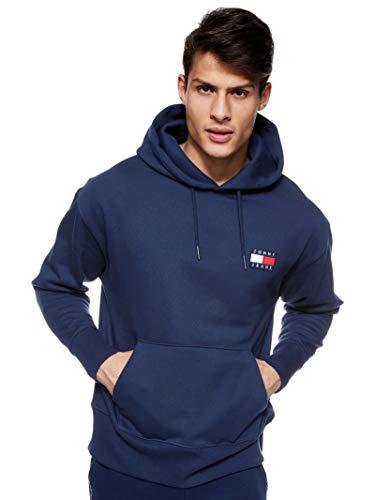 Tommy Jeans Herren Sweatshirt Tommy Badge Hoodie Marine (52) L