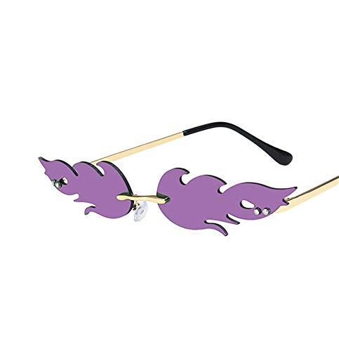 Occhiali da sole Fiamma/specchi polarizzanti/occhiali da sole fashion-trend/occhiali da sole in metallo senza cornice/occhiali europei-europei-europei/leggeri/di fascia alta/personalità
