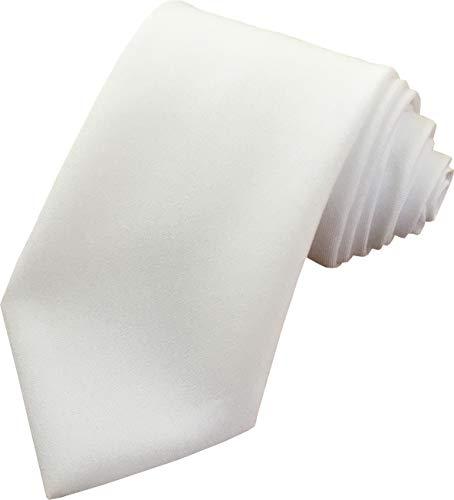 Great British Tie Club Cravates formelles d'affaires pour hommes, de longueur standard (couleurs variées) (Blanc)