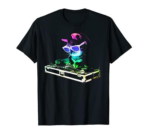 HOUSE CAT (Rainbow DJ Cat Kitty) T-Shirt
