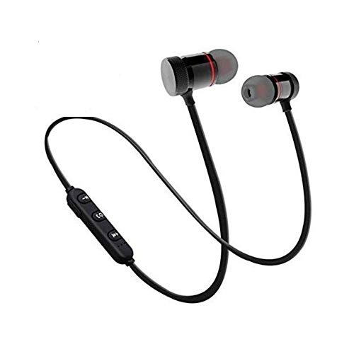 SBA BM-105 Light Weight Magnetic Bluetooth Headset Earphone & Calling Function Support for All Smartphone (Assorted Colour)