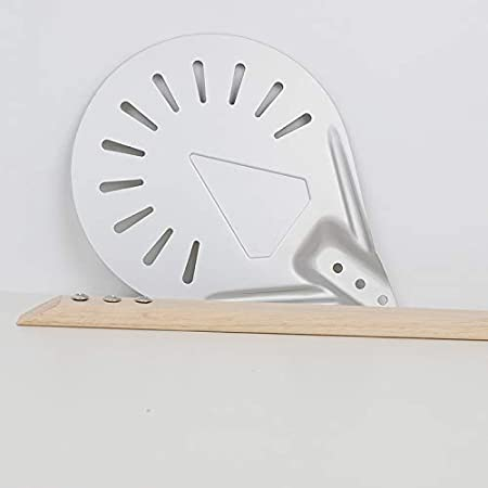 Ramsden Pizza Turning Peel 7//8//9 Aluminum Alloy Metal Round Perforated Shovel for Pizza Bread Kitchen Tool