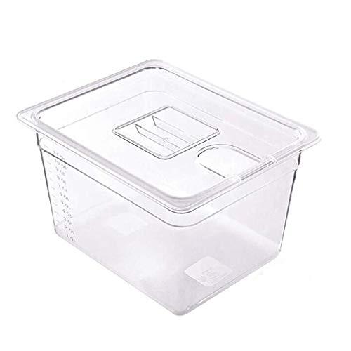 Sous-Vide Garer, contenitore Sous Vide Tools da 11 litri, contenitore in policarbonato per bistecca con coperchio, serbatoio dell'acqua per circolare, cottura a immersione, cottura a vapore lento