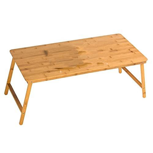 Bandeja de bambú Multi Tarking Lap Tallery, escritorio plegable para comer la mesa de la bandeja de la cama de desayuno con las piernas plegables para los niños, el sofá, la cama, el trabajo, usado co
