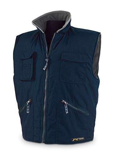 Merk 288-vpaxl fleece vest blauw XL