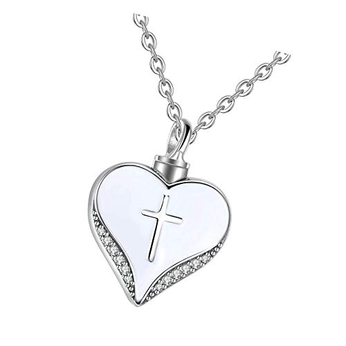 Cremation Necklace 925 Sterling Silver Heart Charm Pendant