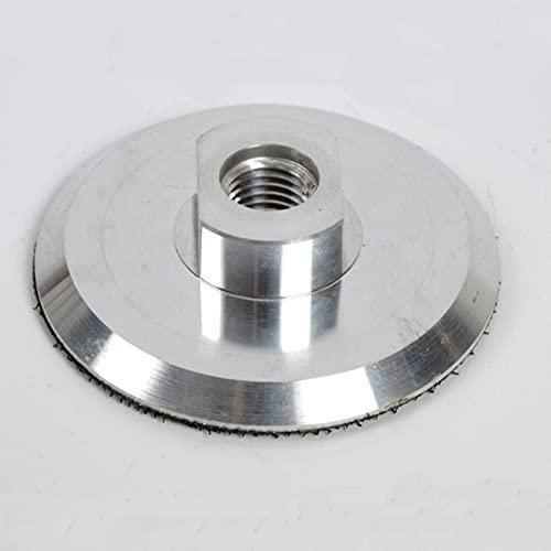 Gancho de aluminio de 4 pulgadas y soporte trasero de bucle con hilo de 5/8.11 para almohadillas de pulido de lijado