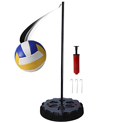 Zdgao Portable Tetherball Set with Tetherball Ball, Rope, Pole, and Base Outdoor Tetherball Set for Backyard and Family Fun