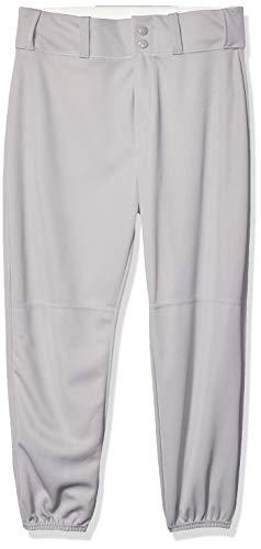 Alleson Athletic Boys' Standard Youth Elastic Bottom Baseball Pant, Gray, Large