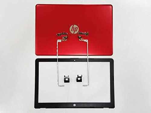 Repuesto para HP Pavilion 15-BS134WM 15-BS144WM 15-BS234WM 15-BS244WM 15-BS244WM Tapa trasera LCD con bisel delantero/bisagras/juegos de cubierta L03441-001 (rojo)