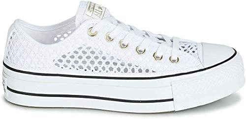 Converse, CTAS OX White/Black 564873C, Zapatillas con Plataforma para Mujer