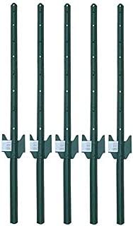 MTB Fence Post Sturdy Duty Fence U Post 3 Feet, Pack of 5