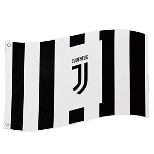 Juventus Turin Fahne Stripes mit Ösen 152x91cm