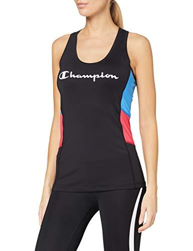 Champion Women's Seasonal Active Tank Top T-Shirt, Black (KK002), X-Large Womens