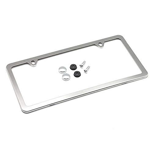Porta Placas para Auto Marco de Placas Auto license plate frame con un Conjunto de Tornillo y Tapa (cromo)
