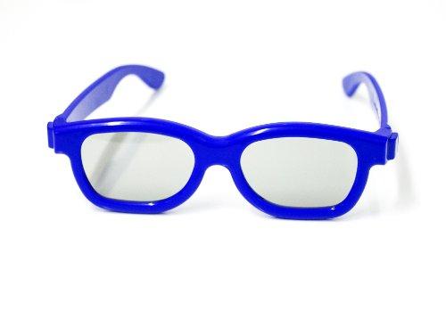 Gafas 3D para Niños universal pasivos gafas 3D para niños para Cinema 3D de LG, Easy 3D de Philips, Panasonic, Toshiba, Grundig y cines RealD en azul NUEVO de la marca PRECORN