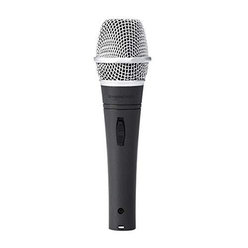 Amazon Basics - Microfono dinamico, super cardioide, per voce