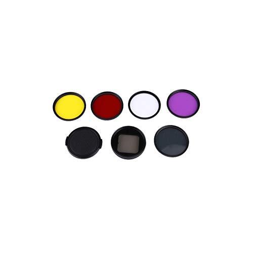 6 en 1 Proffesional 58mm filtre à lentille (CPL UV Rouge Jaune Violet) et boîtier étanche Boîtier adaptateur Pour G