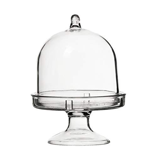 NUOBESTY 24Pcs Mini Basamento della Torta con Coperchio A Cupola di Plastica Cupcake Display Vassoio Piccolo Cake Dome Dessert Stand per Il Cioccolato Formaggio di Cocco Amaretti Rum Palle
