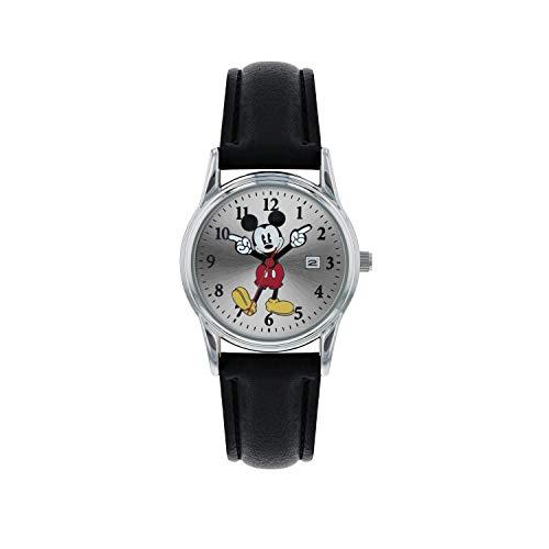 Mickey Mouse Damen Analog Quarz Uhr mit Leder Armband MK1003