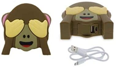 Xtreme Cables Emoji External Battery Pack for Works with iPhone, Samsung, Motorola, HTCand BlackBerry, LG - Monkey Emoji