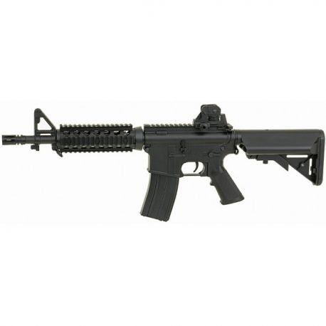 Cyma M4A1 RIS Guardamanos CQB Carabina AEG Rifle (CM 506, Negro) 0.5 Julios