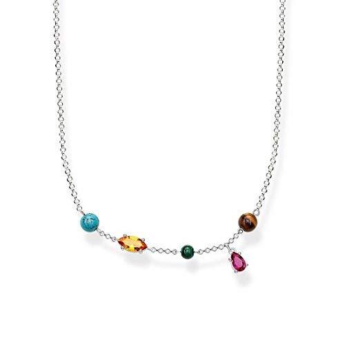 Thomas Sabo - Collar de Mujer ' Riviera Colours', Plata de Ley 925, 40 cm