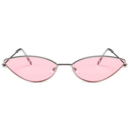 HO Carino Sexy Cat Eye Occhiali da Sole da Donna Retro Piccolo Nero Rosso Rosa Occhiali da Sole Donna Vintage tonalità per Donna,Pink