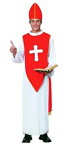 Kostüm - Verkleidung - Karneval - Halloween - Bischof - Priester - Priester - Katholik - Kirche - weiße - Erwachsene - Mann - Junge - Einheitsgröße - Geschenkidee für Weihnachten und Geburtstag