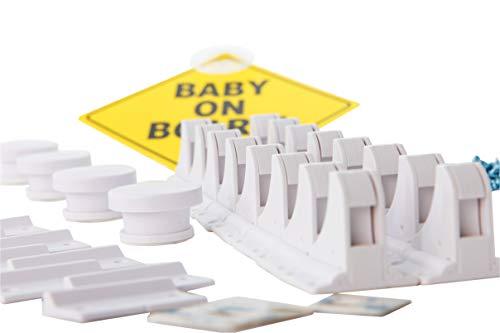 Magnetische Kindersicherung Schrank und Schubladen von Avantina® - 16 x Schranksicherung – unsichtbare Kindersicherung - Kinder-sicherung für Küchen, ohne Bohren