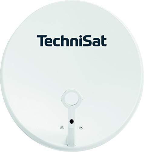 TechniSat TECHNITENNE 60 - Satellitenschüssel  (60 cm digital Sat Anlage, Antenne mit Masthalterung, vorbereitet für die Aufnahme eines 40 mm LNB) lichtgrau