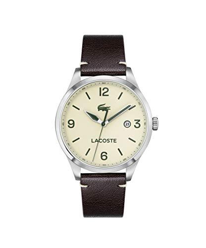 Lacoste Reloj Cosa análoga para de los Hombres de Cuarzo con Correa en Cuero 2011107