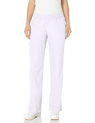 Cherokee - Pantalón - recto - Básico - Mujer, Blanco, XXL Chiquita