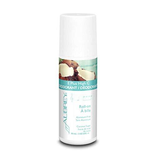 Aubrey E Plus High C Deodorant | Roll-On | 3 oz (Coconut)