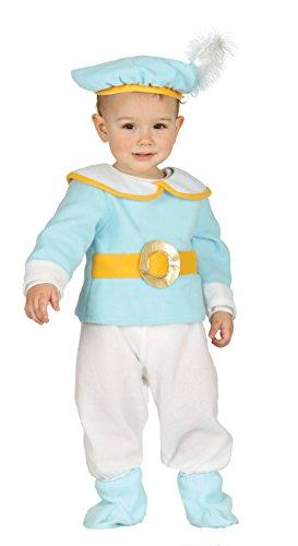 Guirca-87609 Costume Principe Neonato 12/24 Mesi, Azzurro e Bianco, Taglia 12-24, 87609