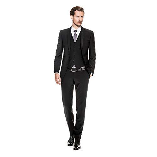 Benvenuto Purple - Slim Fit - Herren Baukasten Sakko für Jungen Trend-Anzug mit sehr schlankem Schnitt, Adonis (20657, Modell: 61283)