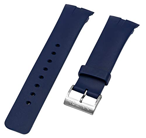 Nautica Men's N16535G | A16535G NSR 01 Chronograph Blue Resin Original Replacement Watch Band