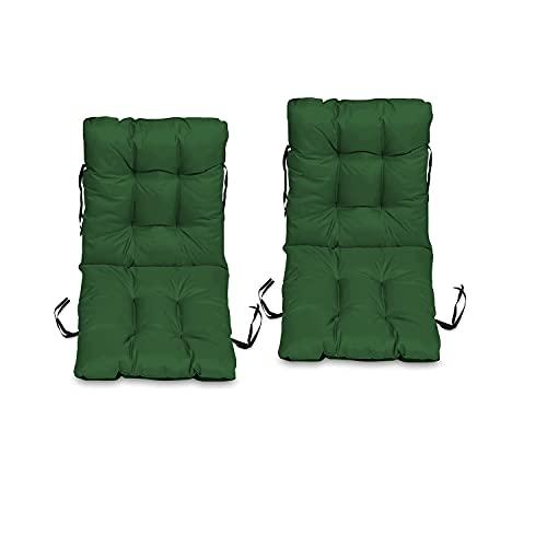 Bravo Home - Cojín para silla con respaldo de 45 x 45 cm, cojín de asiento, cojín de respaldo bajo, cojín para silla de jardín, silla o tumbona, jardín, terraza o balcón