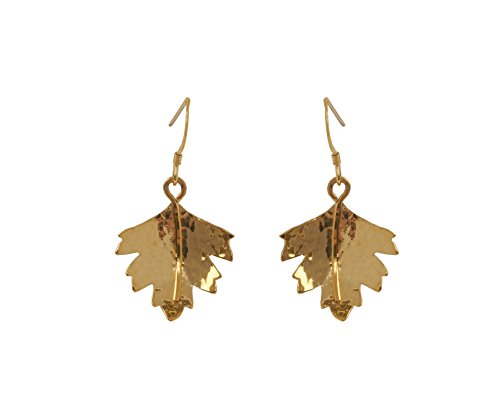 Claire Hawley Ohrringe Sterling-Silber 925 vergoldet Hawthorn Baum Blatt