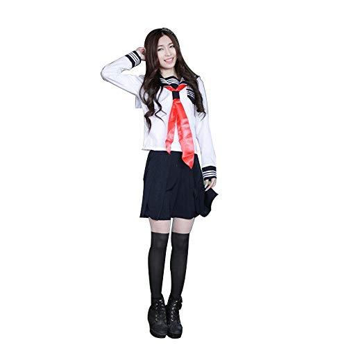 fagginakss Mujer Disfraz de Japonesa Cosplay Traje de Marinero JK Uniformes Escolares Japoneses y Coreanos Estilo Britnico para Chicas Estudiante