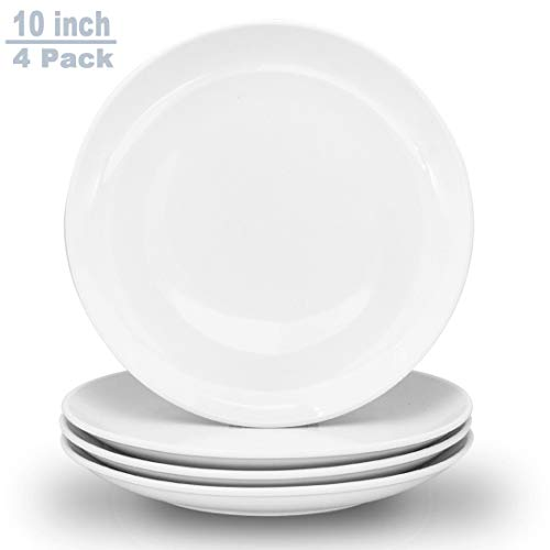 Zoneyila 10' Round Dinner Plates, Ceramic Dinner Dishes, Cadmium And Lead Free, Microwave, Oven and Dishwasher Safe