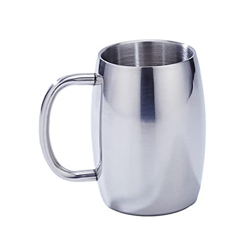 YKW 50 0ML Taza de café aislada con asa de Acero Inoxidable Doble Pared Camping Taza de té Tough Tough Beer Beer Taza