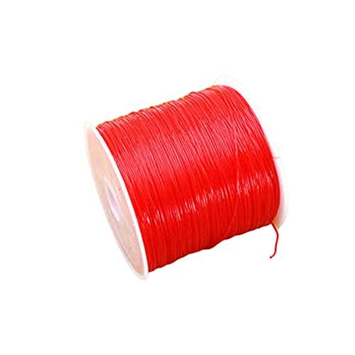 JKGHK Cuerda de Abalorios 1 rollen Rojo Hilo Elástico 1.5mm 100m Bobina Elástica de Hilo para Pulsera Collar Abalorios,1.5mm