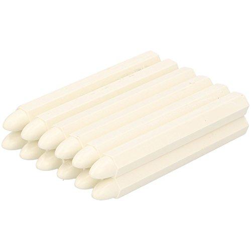 Preisvergleich Produktbild 12 x Signierkreide weiß sechseckig 110 x 12 mm Forstkreide Farbkreide Tafelkreide Fettkreide