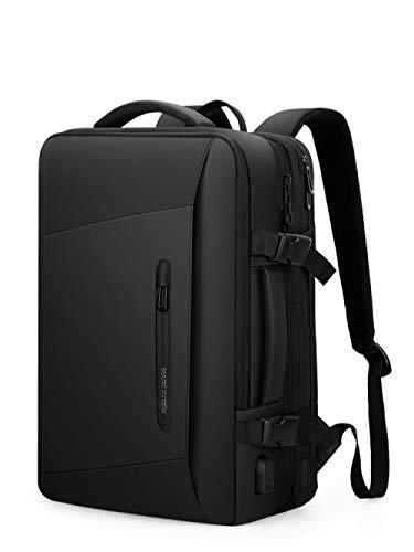 OKWIS Two-shoulder bag Men's backpack Emergency raincoat large capacity bag can expand the capacity of business bag travel bag 17 inch laptop bag.