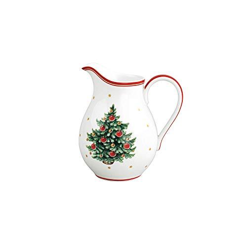 Villeroy & Boch Toy's Delight Pot à lait, 500 ml, Porcelaine Premium, Blanc/Rouge/Vert