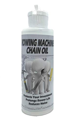 TreadLife Fitness Rowing Machine Chain Oil, Works Great on Concept 2 Rower - 4oz