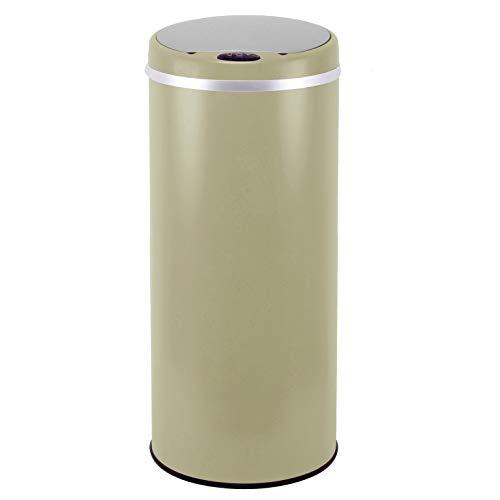 Kitchen Move - Pattumiera automatica con apertura sensorizzata, in acciaio INOX, capacità: 42 l, 67,5 x 30cm, colore: Grigio, acciaio inossidabile